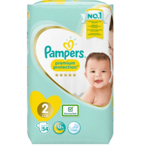 Pampers Premium Protection size 2 4-8kg mini economy pack (54 pieces)
