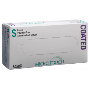 Microtouch latex gloves size S, powder-free (100 pieces)