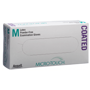 Microtouch latex gloves size M, powder-free (100 pieces)