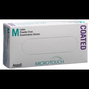 MICRO-TOUCH Coated Latex Handschuhe Grösse M, puderfrei (100 Stk)