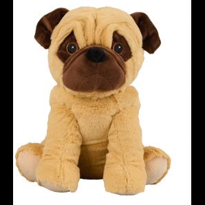 WARMIES soft toy pug beige