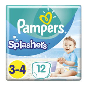 Pampers Splashers size 3-4 carrying pack (12 pieces)