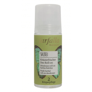 Farfalla Sage Herbal Freshener Deodorant Roll-on (50ml)