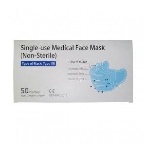 Medizinische Einwegmaske Typ IIR blau (50 Stk)