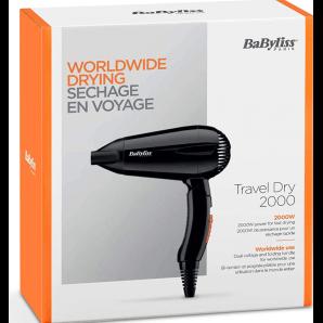 BaByliss Travel Dry le Sèche Cheveux Pliable (2000 watts)