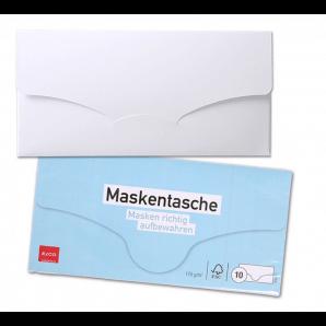 ELCO Maskentasche C5/6 mit Steckverschluss weiss (10 Stk)