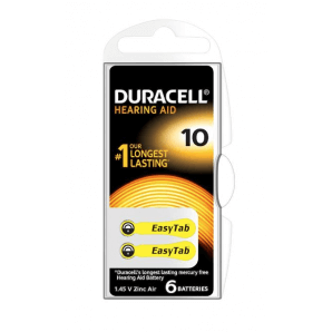 DURACELL hearing aid batteries 10 / 1.45 V / zinc Air (6 pieces)