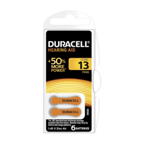 DURACELL hearing aid batteries 13 / 1.45 V / zinc Air (6 pieces)