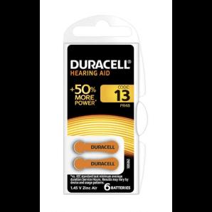 DURACELL Hörgerätebatterien 13 / 1,45 V / Zink Air (6 Stk)