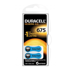 DURACELL Hörgerätebatterien 675 / 1,45 V / Zink Air (6 Stk)
