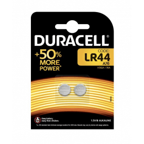 DURACELL LR44 / A76 / 1.5V (2 pieces)