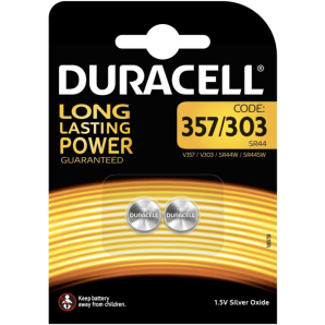 DURACELL 357/303 / SR44 / 1.5V (2 pieces)