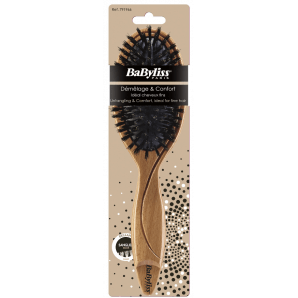 BaByliss Wooden Brush 100% Wild Boar