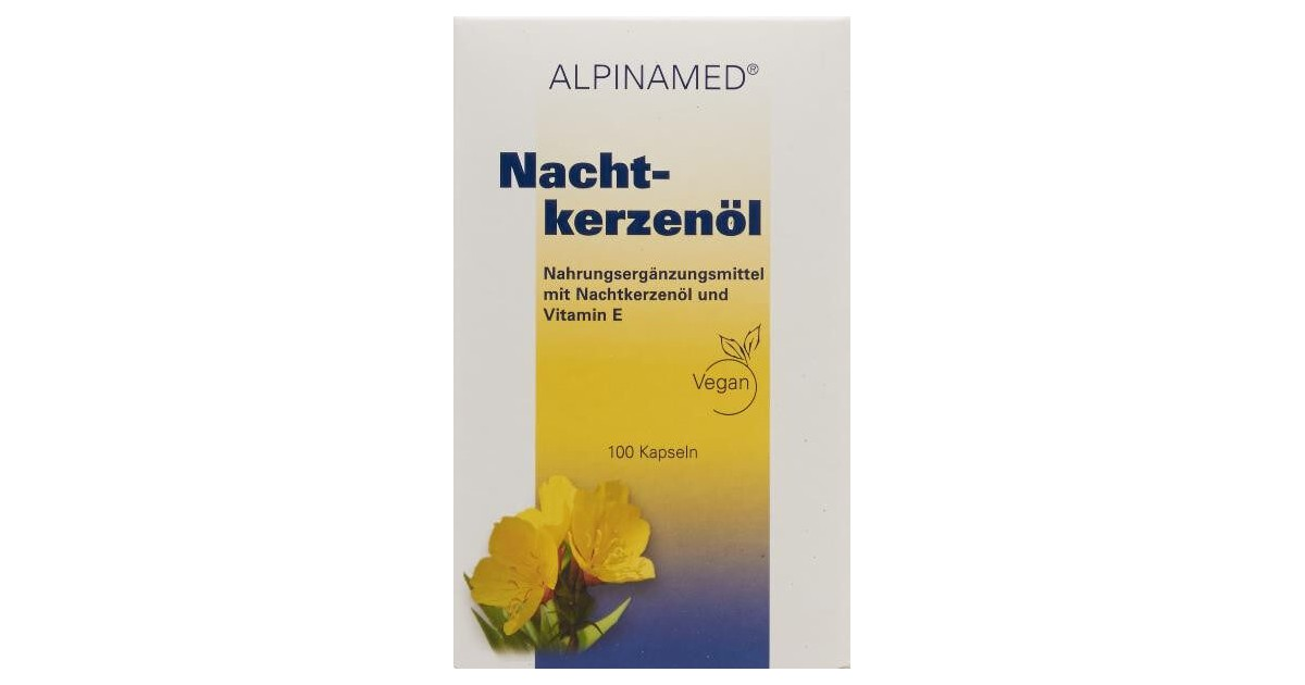 Alpinamed Nachtkerzenöl Kapseln (100 Stk)