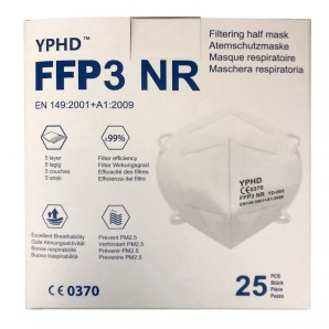 YPHD respirator mask FFP3 (25 pcs)