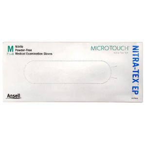 MICRO-TOUCH Nitra-Tex EP nitrile gloves size M, powder-free (100 pieces)