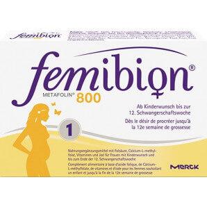 Femibion 800 Folic Acid Plus Metafolin (60 tablets)