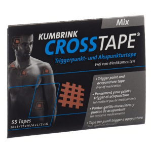 CROSSTAPE ruban anti-douleur et d'acupuncture mix (55 pièces)
