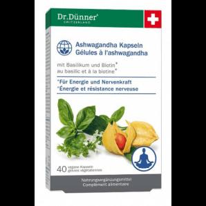 Dr. Dünner Gélules Ashwagandha Energy + Nerves (40 pièces)