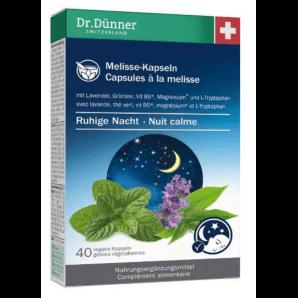 Dr. Dünner Capsules de mélisse au calme Nuit (40 pcs)