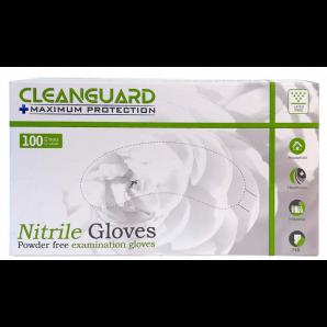 CLEANGUARD nitrile gloves, size M, blue, powder-free (100 pieces)