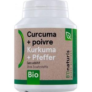 Bionaturis turmeric + pepper organic capsules 260mg (180 pieces)