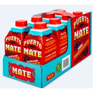 Puerto Mate thé froid grenade (8 x 500ml)