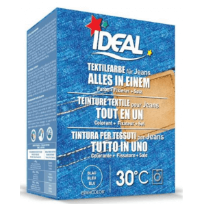 IDEAL Textilfarbe Alles in einem Jeans Blau (350g)