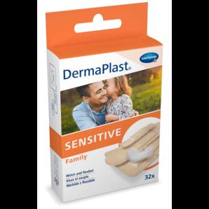 DermaPlast Sensitive Family Bandelettes (32 pièces)