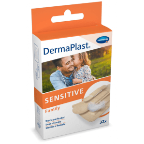 DermaPlast Sensitive Family Strips (32 pcs)