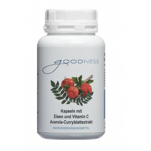 Goodness acerola curry leaf extract capsules with iron and vitamin C (90 pieces)