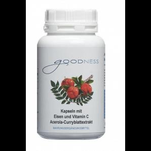 Goodness Acerola-Curryblattextrakt Kapseln mit Eisen und Vitamin C (90 Stk)