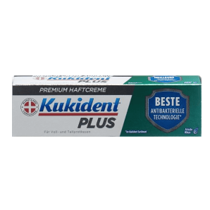Kukident Plus Haftcreme BESTE Antibakterielle Technologie (40g)