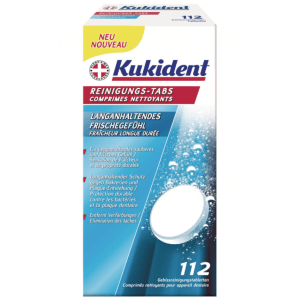 Kukident cleaning tabs EXTRA FRESH (112 pieces)