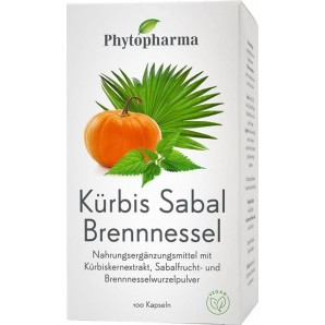 Phytopharma capsules d'ortie pumpkin sabal (100 pièces)