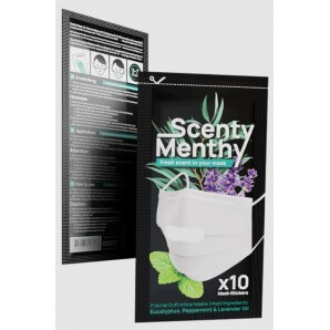Scenty Menthy aroma pads for masks (10 pieces)