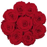 Infinity Rosenbox Luxe schwarz mit roten Rosen (Grösse M)