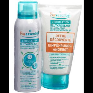 Puressentiel Circulation Sanguine Duo Spray (100ml) + Gel Rafraîchissant (125ml)