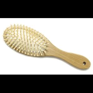 Herba brosse à cheveux avec épingles en bois ovale (1 pc)