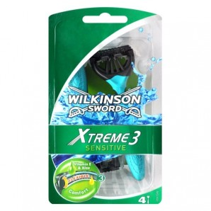 WILKINSON SWORD Xtreme Sensitive 3 Disposable Razors (4 pieces)