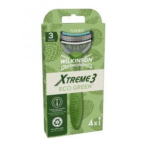 WILKINSON SWORD XTreme 3 Eco Green Disposable Razors (4 pieces)