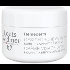 Louis Widmer Remederm Crème Visage UV20 Non Parfumée (50ml)