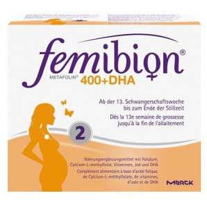 Femibion 400 Folic Acid Plus Metafolin + DHA (120 Tabletten)