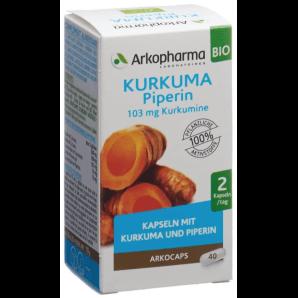 ARKOCAPS Kurkuma Piperin Bio Kapseln (40 Stk)