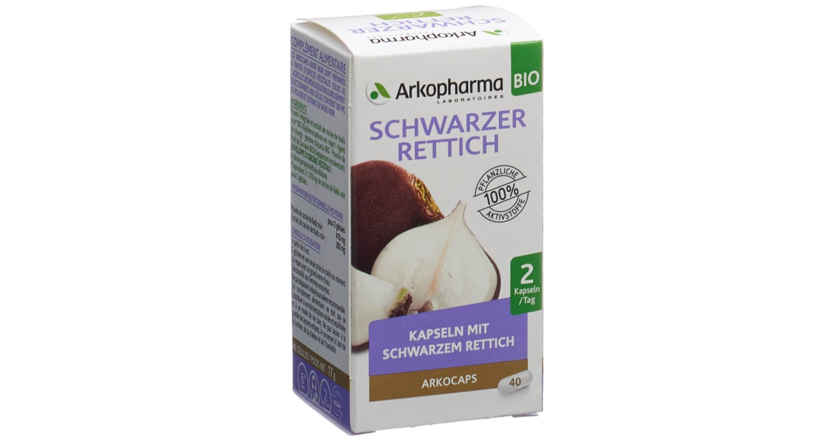 ARKOCAPS Schwarzer Rettich Bio Kapseln (40 Stk)