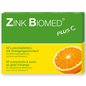 Zinc Biomed Plus C Orange Lozenges (50 pcs)