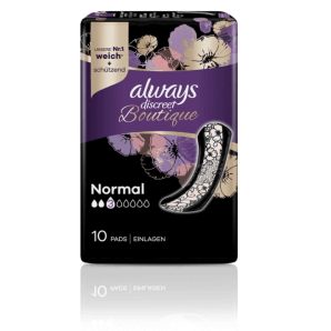Always Discreet Boutique Incontinence Pads Normal (10 pieces)