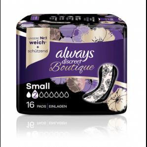 Always Discreet Boutique Des Serviettes Pour Incontinence Small (16 pièces)