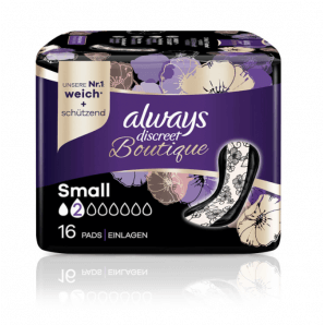 Always Discreet Boutique Incontinence Pads Small (16 pieces)