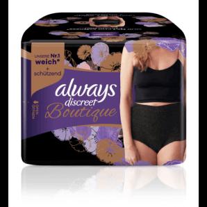 Always Discreet Boutique Schwarze Inkontinenz Pants M (9 Stück)